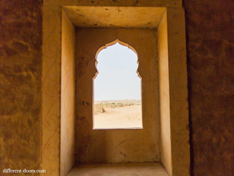ghost town in India Kuldhara, ruins, Rajasthan